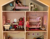 Doll House Plans for American Girl or 18 inch dolls - 5 Room  - NOT ACTUAL HOUSE