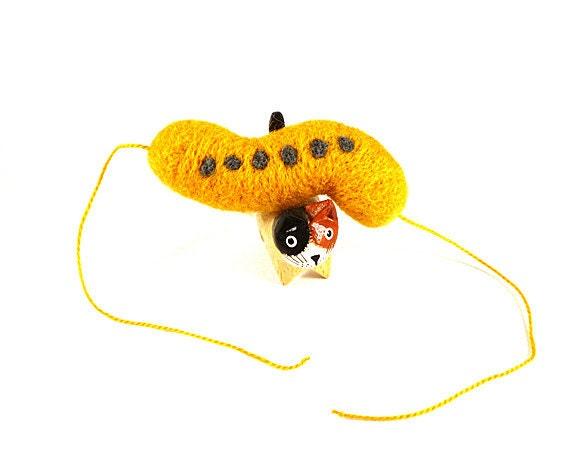 Magnetotactic Bacteria Catnip Cat Toy - Needle Felted Wool