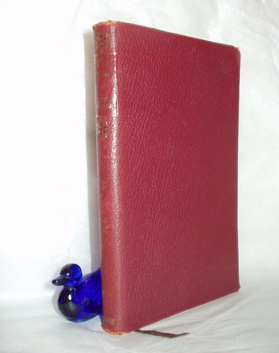 Vintage book Ben Hur red leather effect by Lew Wallace The book the film was based on
