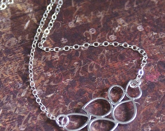 Circles Bubble Necklace -STERLING SILVER Chain- PRETTY Bridesmaid, Wedding, Love Silver Necklace 'Pop Love' By RevelleRoseJewelry