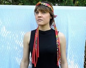 Bright Fringe Headpiece, Tribal Unique Hair Accessory, Ethnic Headdress Feather Look, Headband