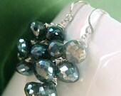Mystic Labradorite Earrings, Cluster (D57)