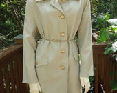 Ladies Trench Coat Vintage // Sage Green Houndstooth // Misty Harbor // Mad Men