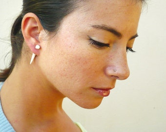 Bone Fake Gauge Earrings Bone Earrings Talon Tribal White Bone Organic - FG032 B G1