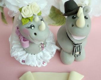 Rhino cake topper for wedding
