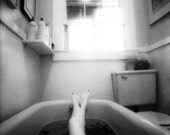 The Bath - Black and White Fine Art Nude Photography - Fine Art Print