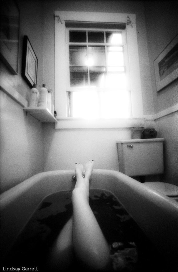 The Bath - Black and White Fine Art Nude Photography - Fine Art Print