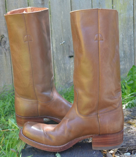 1970's Dan Post Country Gentlman's Campus Riding Boots, 9.5
