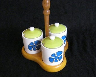 Vintage 1970s Condiment Set