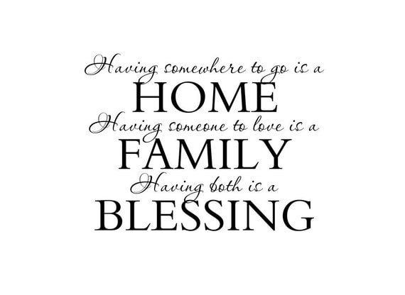 Items Similar To Entry Wall Quote Family Wall Decals Home Family - Custom vinyl wall decals sayings for family room