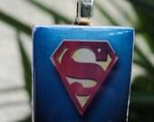 SuperMan Scrabble Pendant