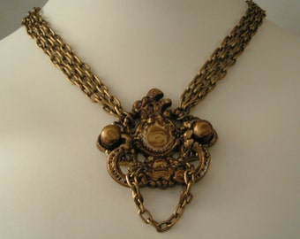 The Queen Anne, drawer pull, Pendant, necklace, Avant Garde, Elfin Door knocker, Steampunk, Jewelry