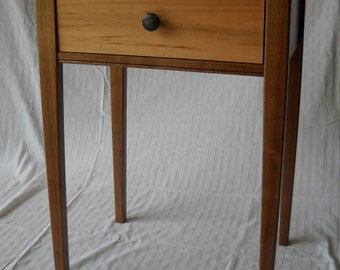 Country Side Table From Cherry and Walnut