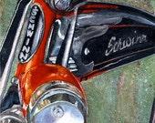 """Bike Art - Greeting Card (5"""" x 7"""") -  Antique Schwinn -  BikeLoversAlley, by Mattie O."""