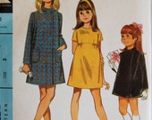 """Vintage 1968 McCall's Girl's Dress and Coat Pattern 9435 Size 3 (22"""" Chest) UNCUT"""