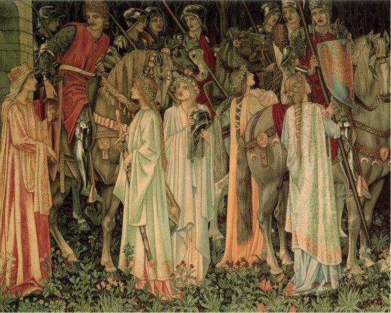 Medieval Knights Being Armed By Edward Burne Jones
