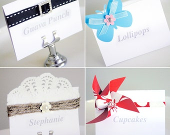 BUFFET Labels / Place Cards - Editable File. Add your own text, print and decorate