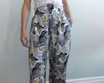 flowy pants / gypsy / harem pants / high waist