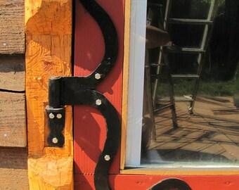 Hand Forged Barn door hinges, Blacksmith Made