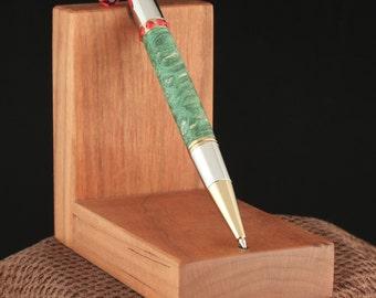 Handmade Green Stabilized Maple Burl Diva Pen