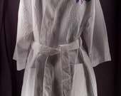 Monogrammed Robe Personalized White Waffle Robes Bridesmaid Gifts waffle weave robes