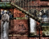 """11 x17 """" Wall Decor: """"Victorian Gothic Fire Escape""""