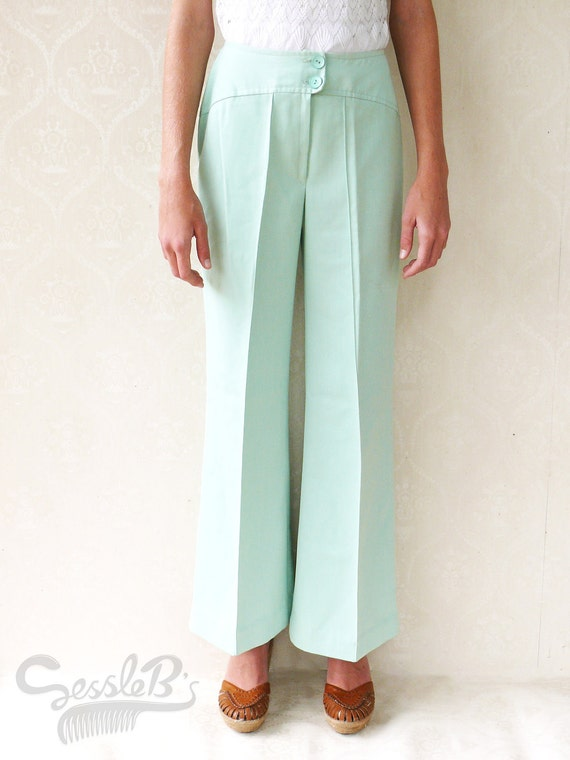 """SALE - Original 1960s vintage bell bottom flares, small - mint . . . . . . . . """"Like"""" our fb page for 10% discount"""
