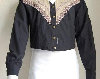 80s Vintage Western Attitude Cropped Jacket Womens Small Lilia Smitty NWT