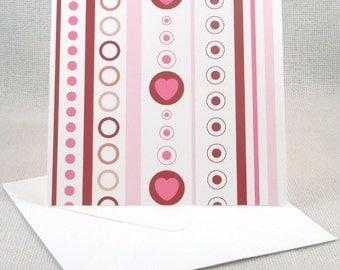 Valentine Pattern Greeting Card