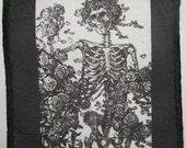 Printed Sew On Patch - RUBIYAT SKELETON - Grateful Dead Rosie - old image p27