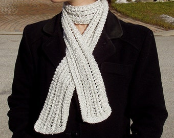 "Woman's scarf (""Lacy Ribs"") knitting pattern (PDF)"