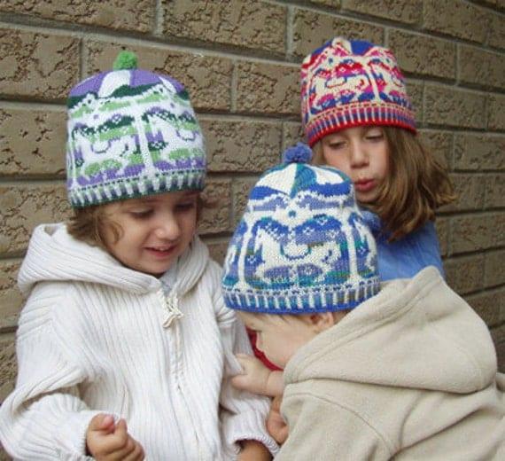 """Baby/child hat (""""Merry-Go-Round"""") knitting pattern (PDF)"""
