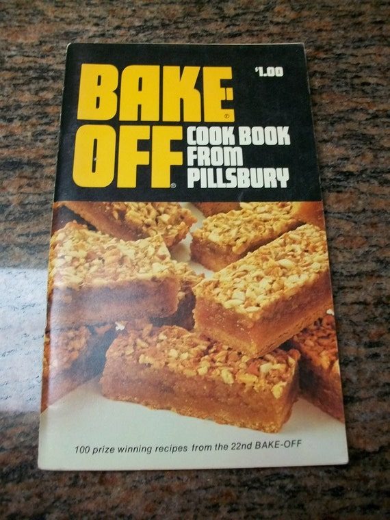 1971 Cookbook Pillsbury Bake Off Vintage Cook Book