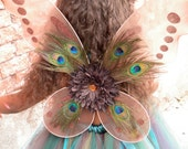READY TO SHIP: Precious Peacock Wings - Brown - Costume Accessory - Fits toddler to adult - Cutie Patootie Designz