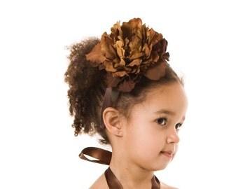 Bronzed Mocha Headband: Fits toddler to adult