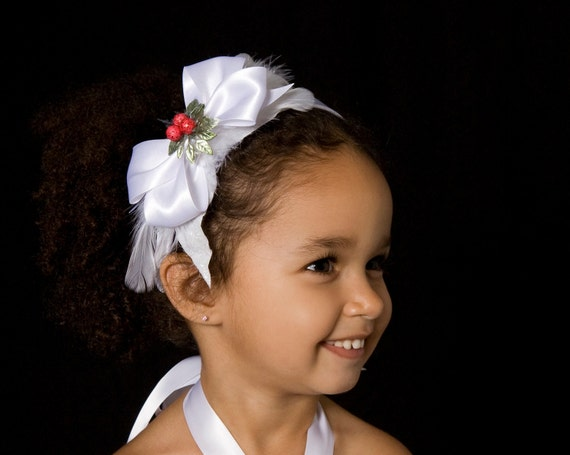 Winter Wonderland Headband: White - Christmas or Holiday Accessory - Fits toddler to adult - Cutie Patootie Designz