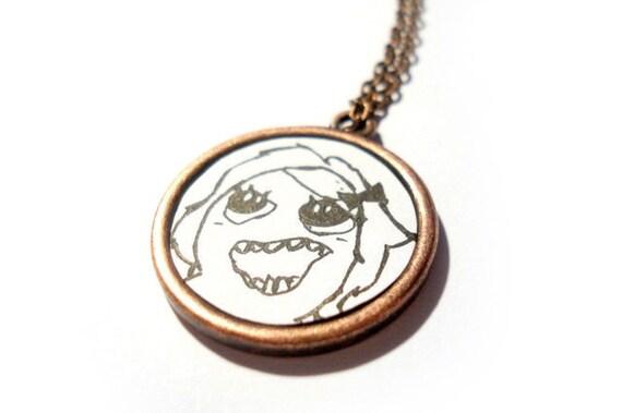 Derpina Meme Necklace