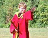 Wizard Inspired Child Gaming Robe Costume - Made to Order - Custom Fit - Year 1-2 style