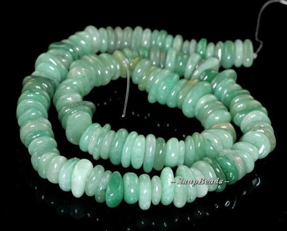 Parsley Bunch Aventurine Gemstone, Green, Rondelle Pebble Donut 12X10MM Loose Beads 7.5 inch Half Strand (90119770-111)