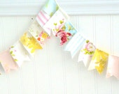 Vintage Fabric Garland Bunting- A String of Lovely- Made to Order