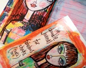 the doodle journal for fabulous chicks (that's you)   - Art Journal by Art Eye Candy