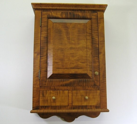 Tiger Maple Spice Cabinet with Drawers