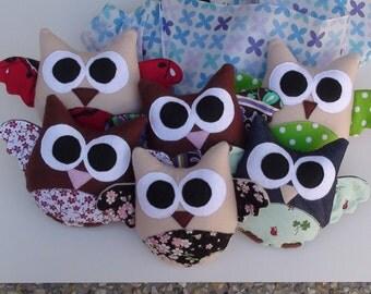 Dark Brown Owl Plush - Cherry Blossom