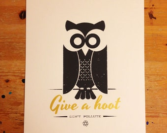 Give a Hoot Screenprint