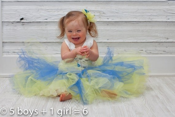 Tutu Yellow and Blue Down Syndrome Awareness