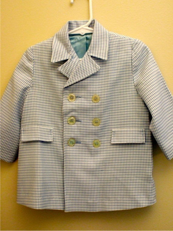 Reduced by 10.00!  Vintage Little Boys Coat by Kute Kiddies