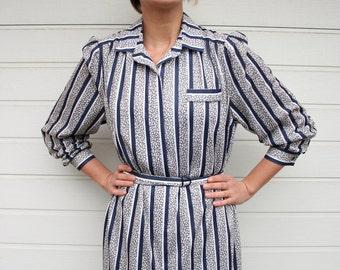 Vintage Longsleeve Shirtwaist Midi Dress