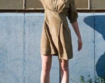 Vintage 60s Puff Sleeve Mini Dress