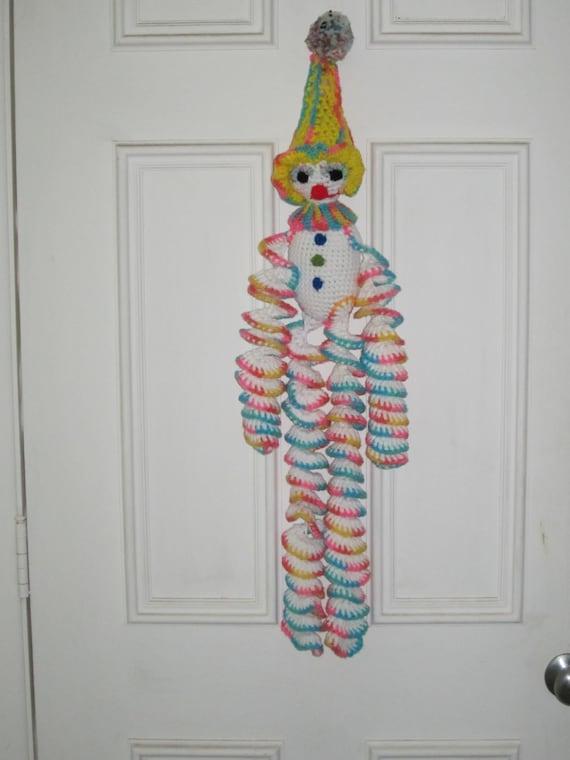Crochetl Huge Rainbow Clown