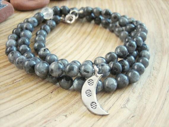 Reserved Listing for Catlane - Black Moonstone Necklace